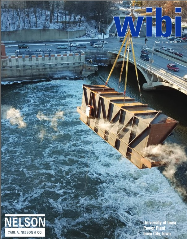 wibi newsletter cover: U of I Power Plant projects